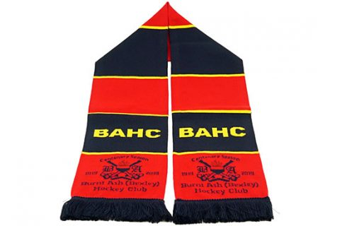 custom HD hockey scarf BAHC