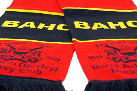 custom HD hockey scarf BAHC detail