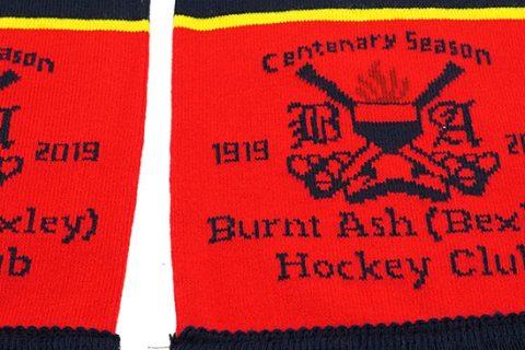 custom HD hockey scarf BAHC detail