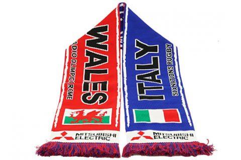 custom HD rugby scarf