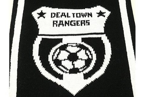 custom HD football scarf detail