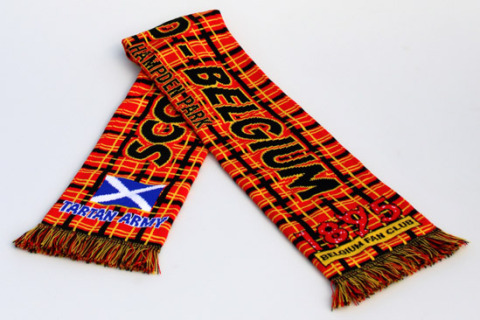 Deluxe HD football scarf Scotland-Belgium