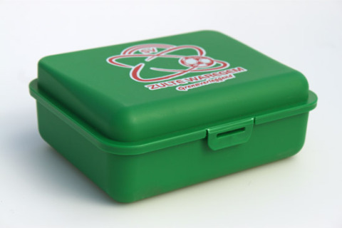 Custom lunch box green