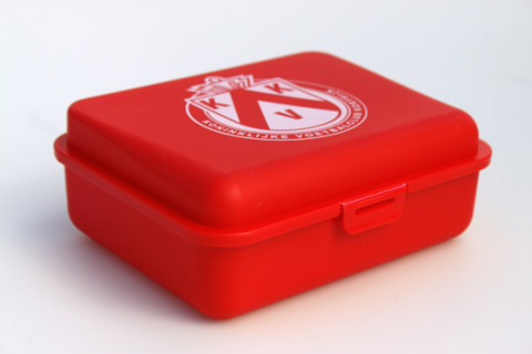 Custom lunch box red