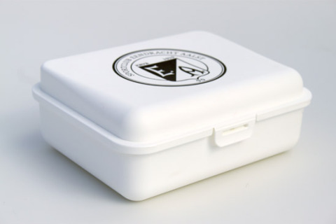Custom lunch box white