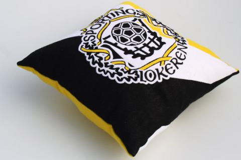Custom woven pillow football