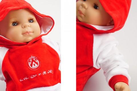 Custom baby hoodie red