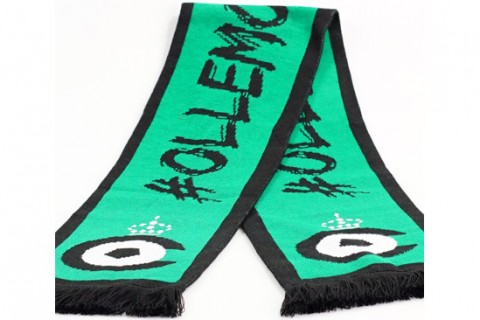Custom jacquard scarf green black
