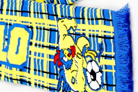 Deluxe HD football scarf Westorlo detail