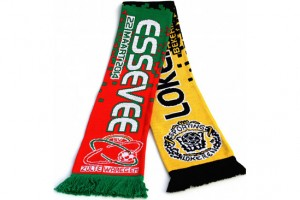 Custom jacquard football friendship scarf