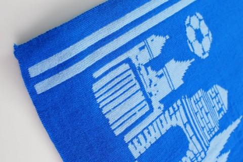Custom business luxe scarf detail