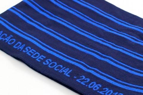 Custom business scarf luxe folded
