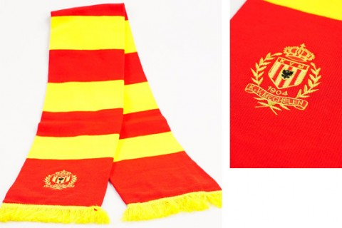 Custom bar scarf KVM yellow/red