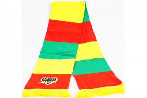 Custom bar scarf with embroidery