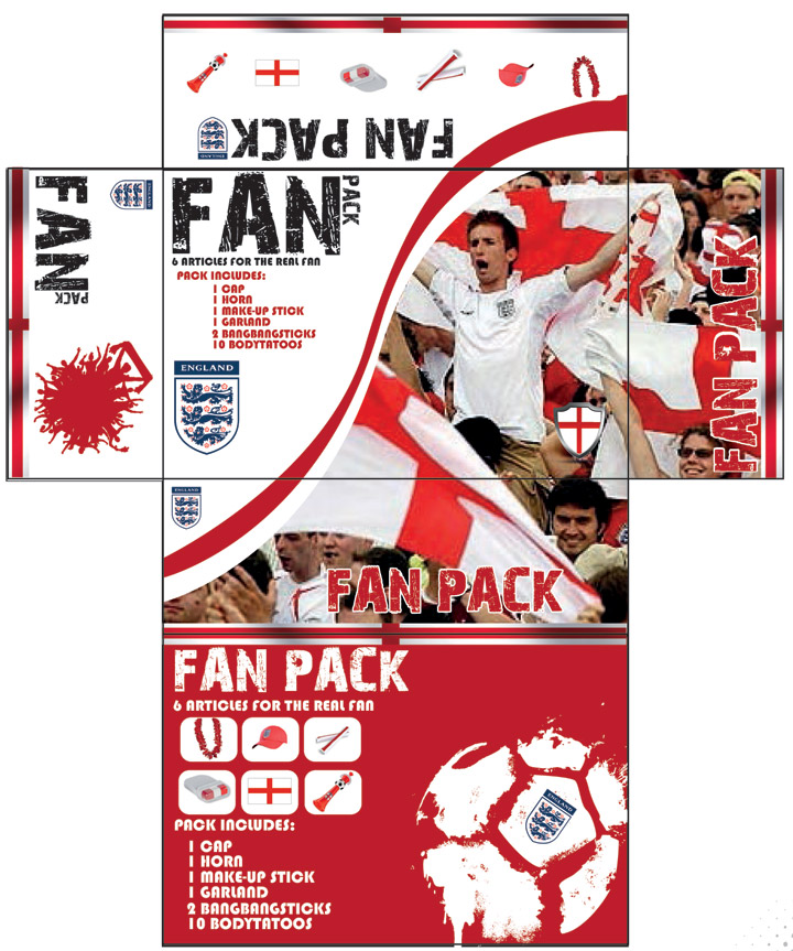 England football fan pack 2016