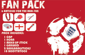 england football fan pack