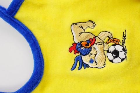 Custom baby bib with embroidered logo