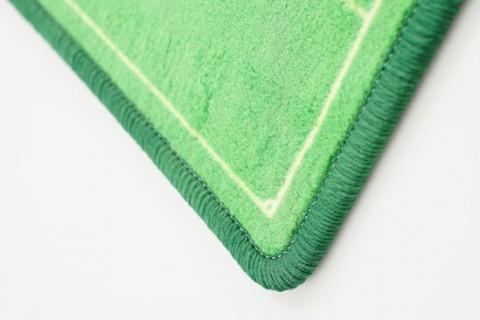 Custom floor mat detail of border finishing