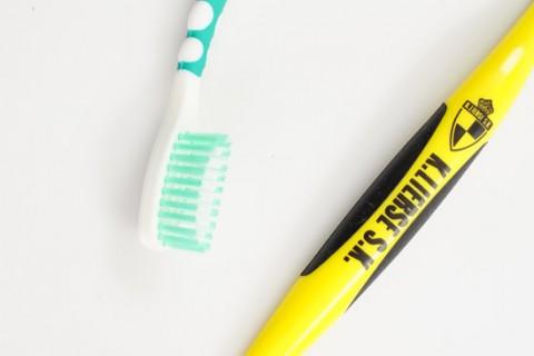 Custom printed toothbrush