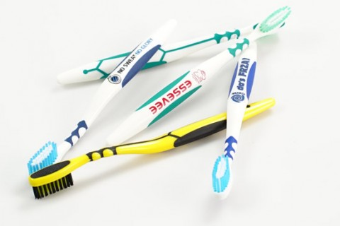 Custom printed toothbrushes
