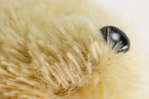 Custom plush toy fabric detail