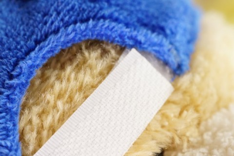 Custom plush toy hat detail