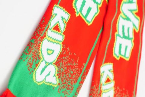 Custom Essevee kids scarf detail