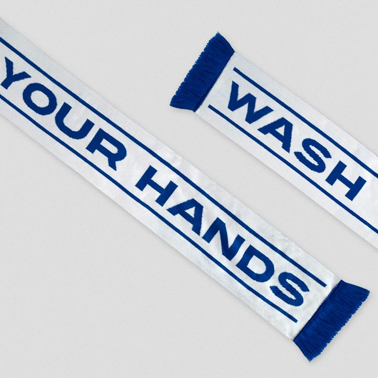 NHS wash your hands scarf